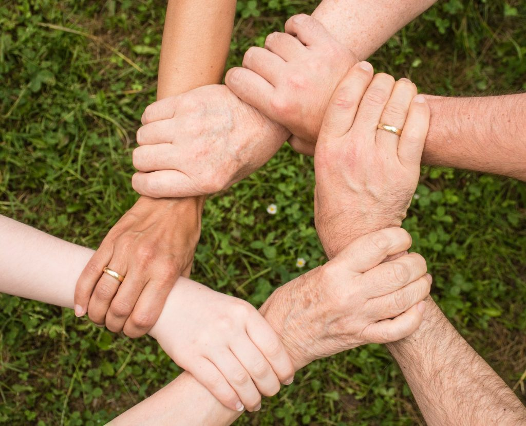 Image of supportive hands