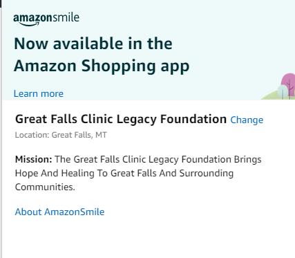 Image of where to change Amazon Smile charity